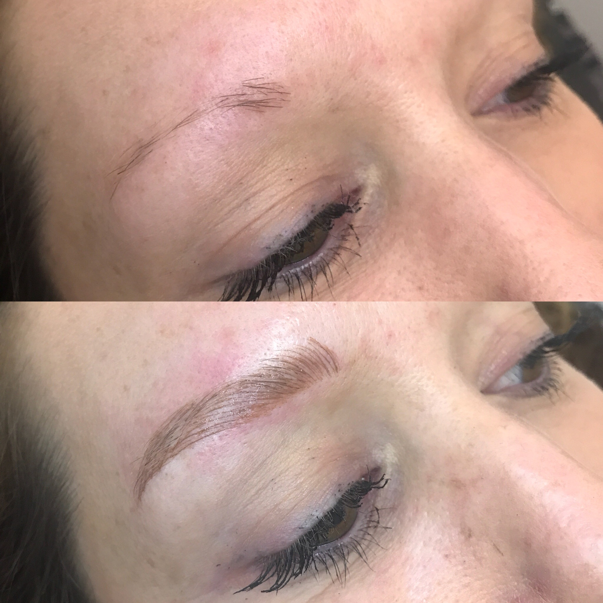 Don't let the Internet rumors about microblading scare you away, I'll just let you see these for yourself here.