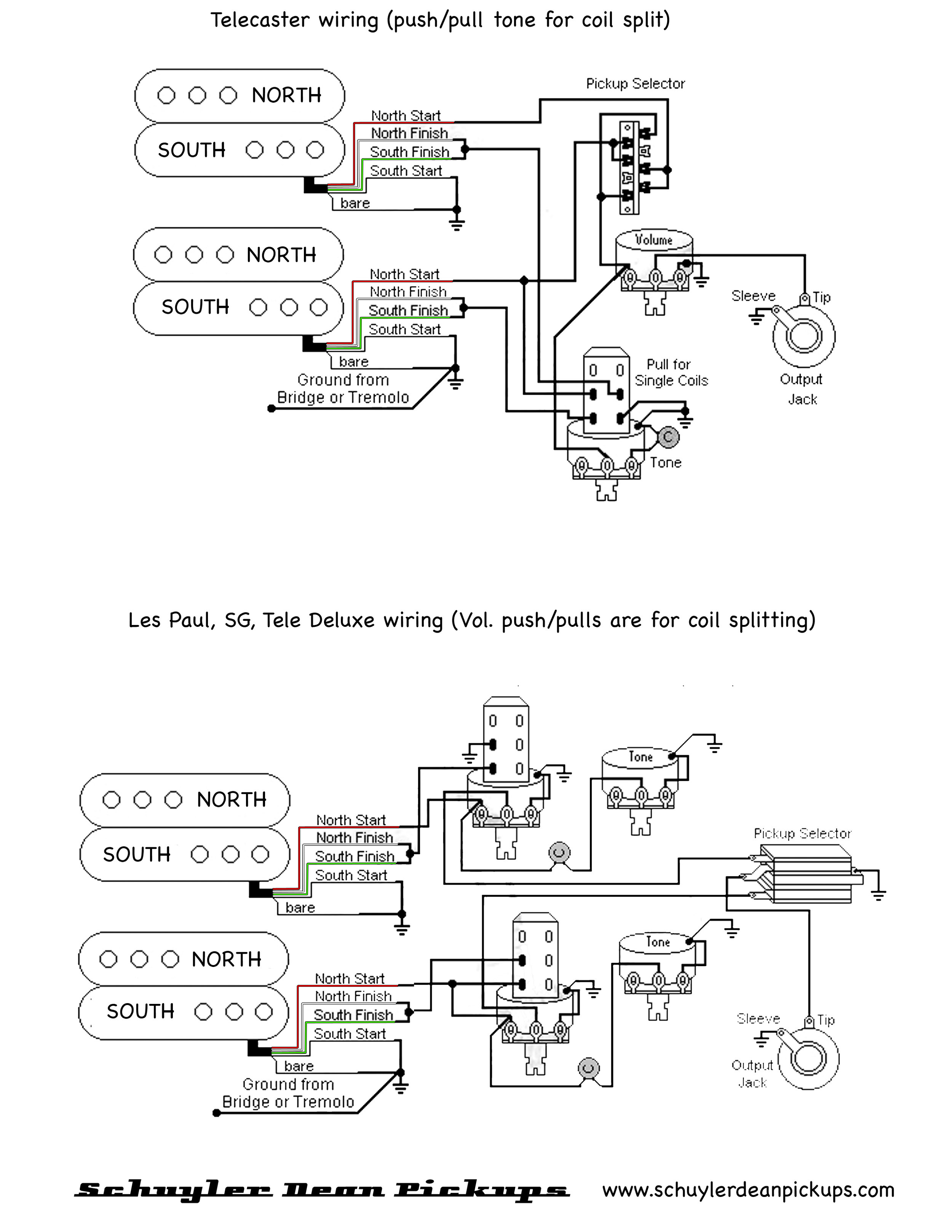 Apex Humbucker Wiring Diagram — Schuyler Dean Pickups on