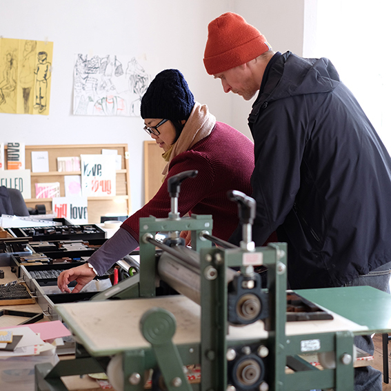 Pop Press - Nottingham  We visit Steve and Ming's fantastic shop and studio and see the printing process behind their range of paper goods.