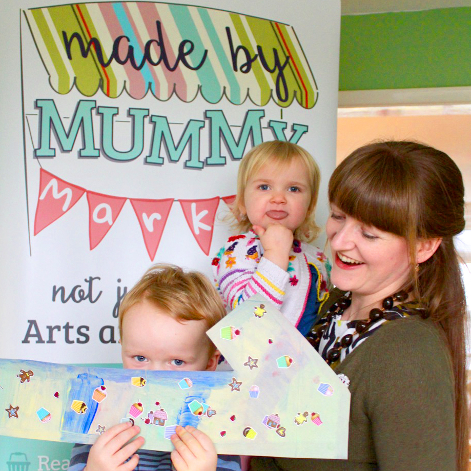3. Made by Mummy Markets founder Samantha Jennings, pictured attempting to pose for a photograph with her two children in celebration of the businesses 1st Birthday copy.jpg