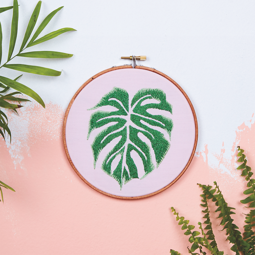 Monstera Embroidery Template by  Roberta Marina