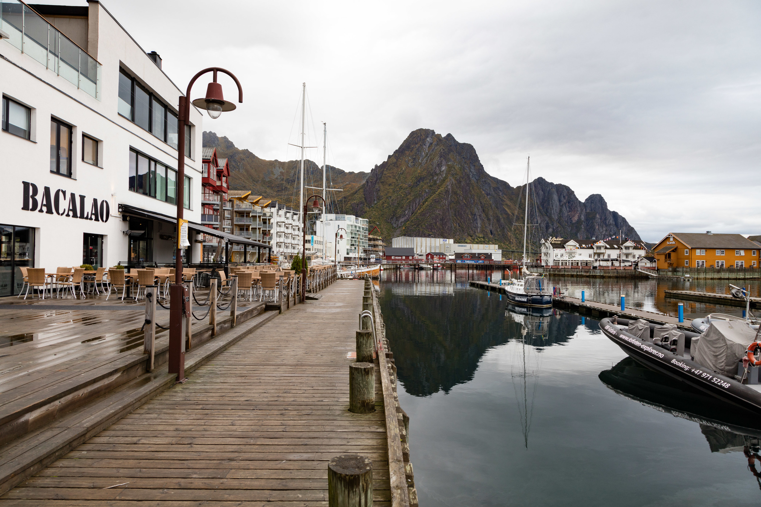 Svolvaer harbour, Lofoten islands September 2015.