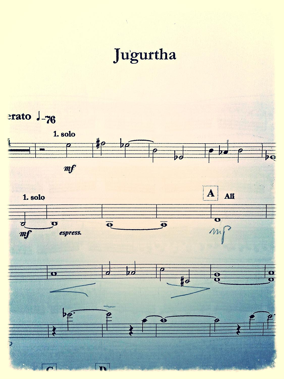 Jugurtha zit nog niet in het publiek domein want de componist leeft nog