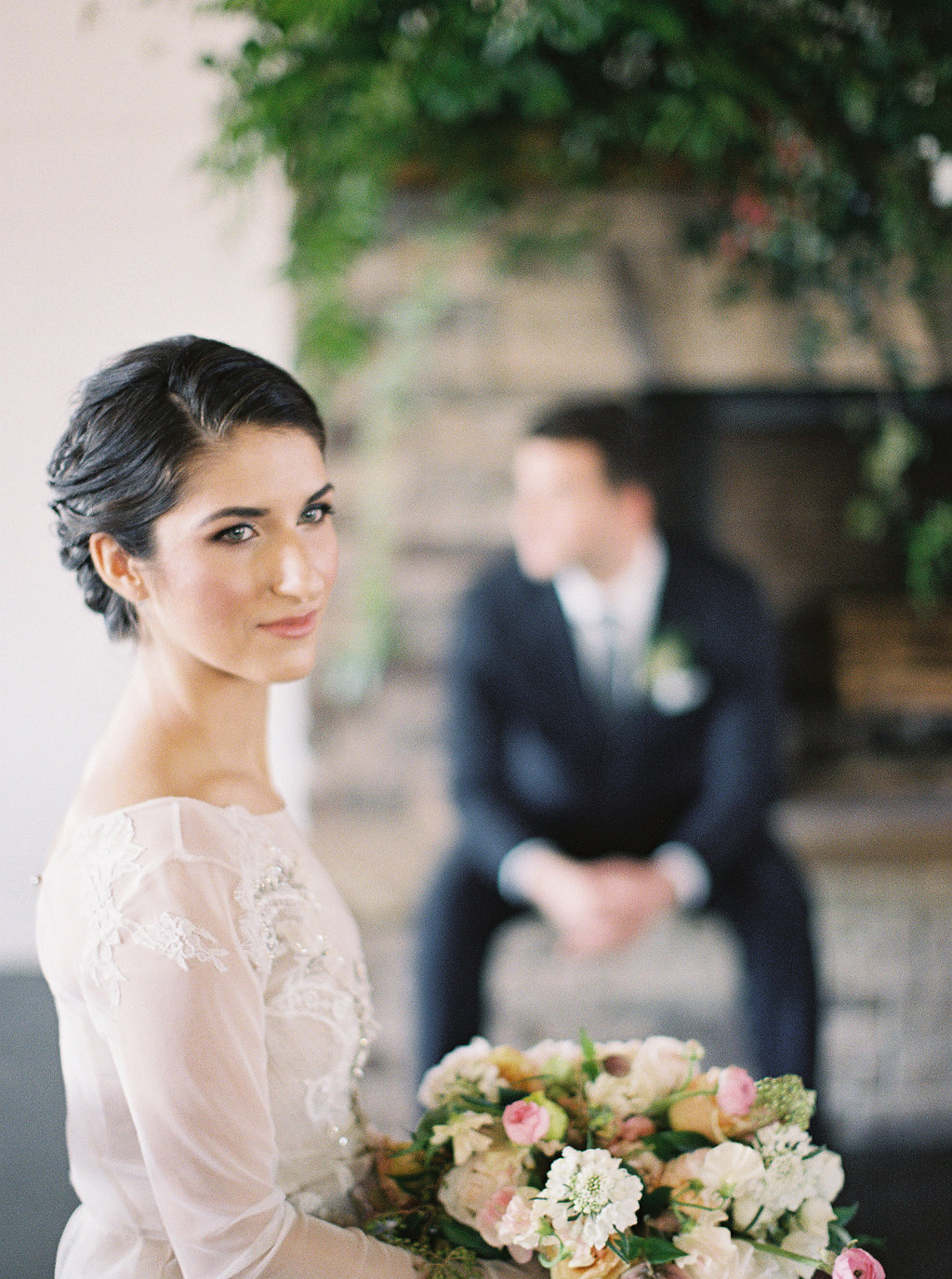 Modern Farm Romance  - Elegant Neutral Indoor Wedding Iinspiration | Featured in Wedding Sparrow