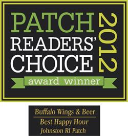 Patch.com 2012 Readers Choice Award: Best Happy Hour