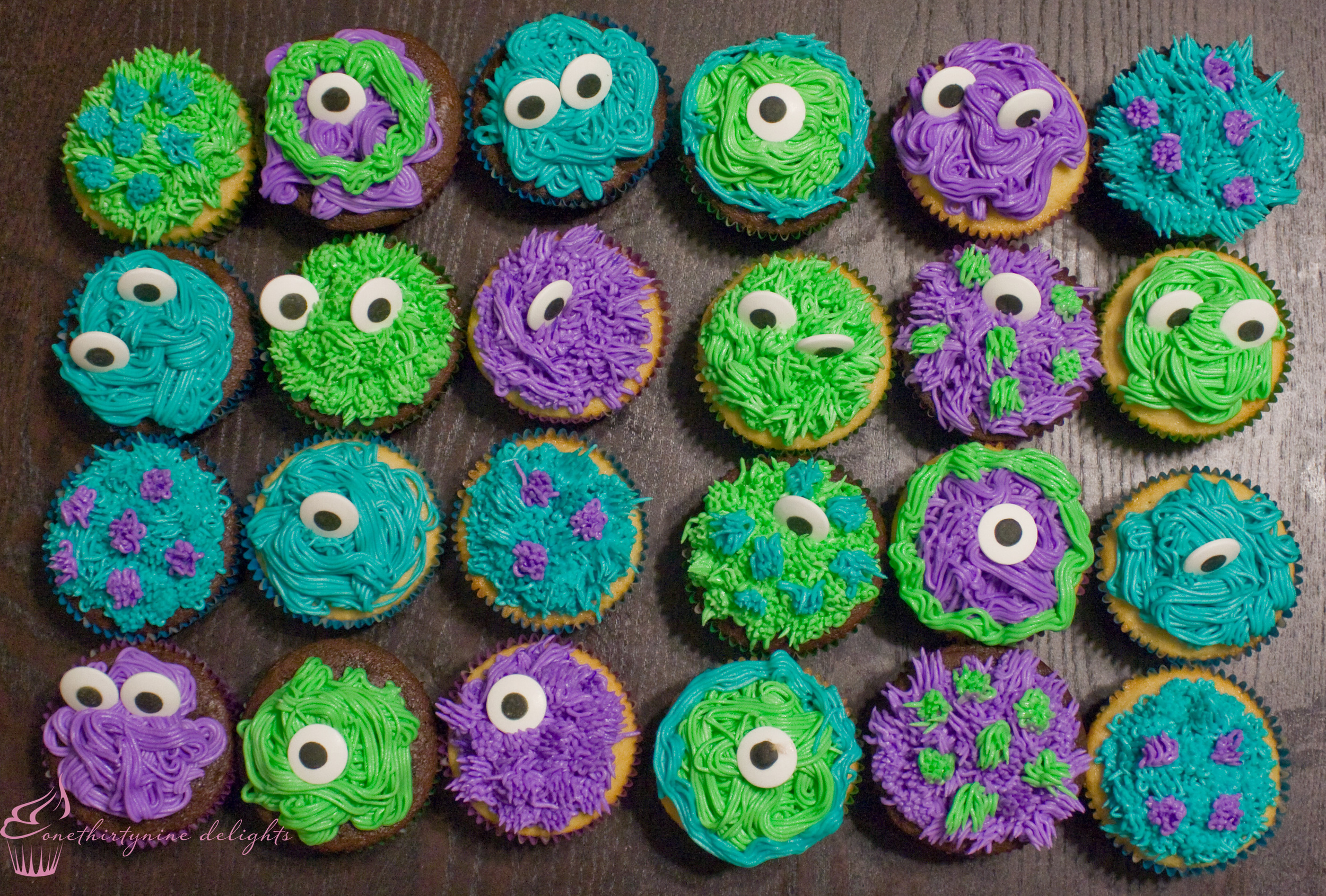 Monster's Inc. Themed Cupcakes