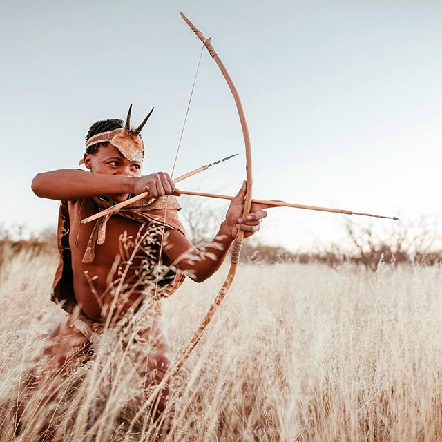 Hunting bushman in the Kalahari