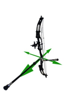Archer compound bow recurve bow stabilizer for bow shooting balance