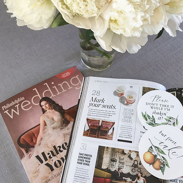 So thrilled to be featured in the Spring/Summer issue of @philawedding which hits stands this week! It will be available until the end of June, so grab a copy and flip to page 110! I'm in great company with the always fabulous @everlaser and @asya_photography_philly! . . . . #letterpresslove #letterpress #customdesign #weddinginvitation #weddinginvitations #wedding #weddings #weddingideas #weddinginspiration #weddinginspo #ido #thatsdarling #pursuepretty #dailydoseofpaper #phillybride #phillybrideguide #weddingdetails #engaged #love #bridetobe #phillywedding #beautiful #custominvitations #flashesofdelight #philadelphiawedding #gettingmarried