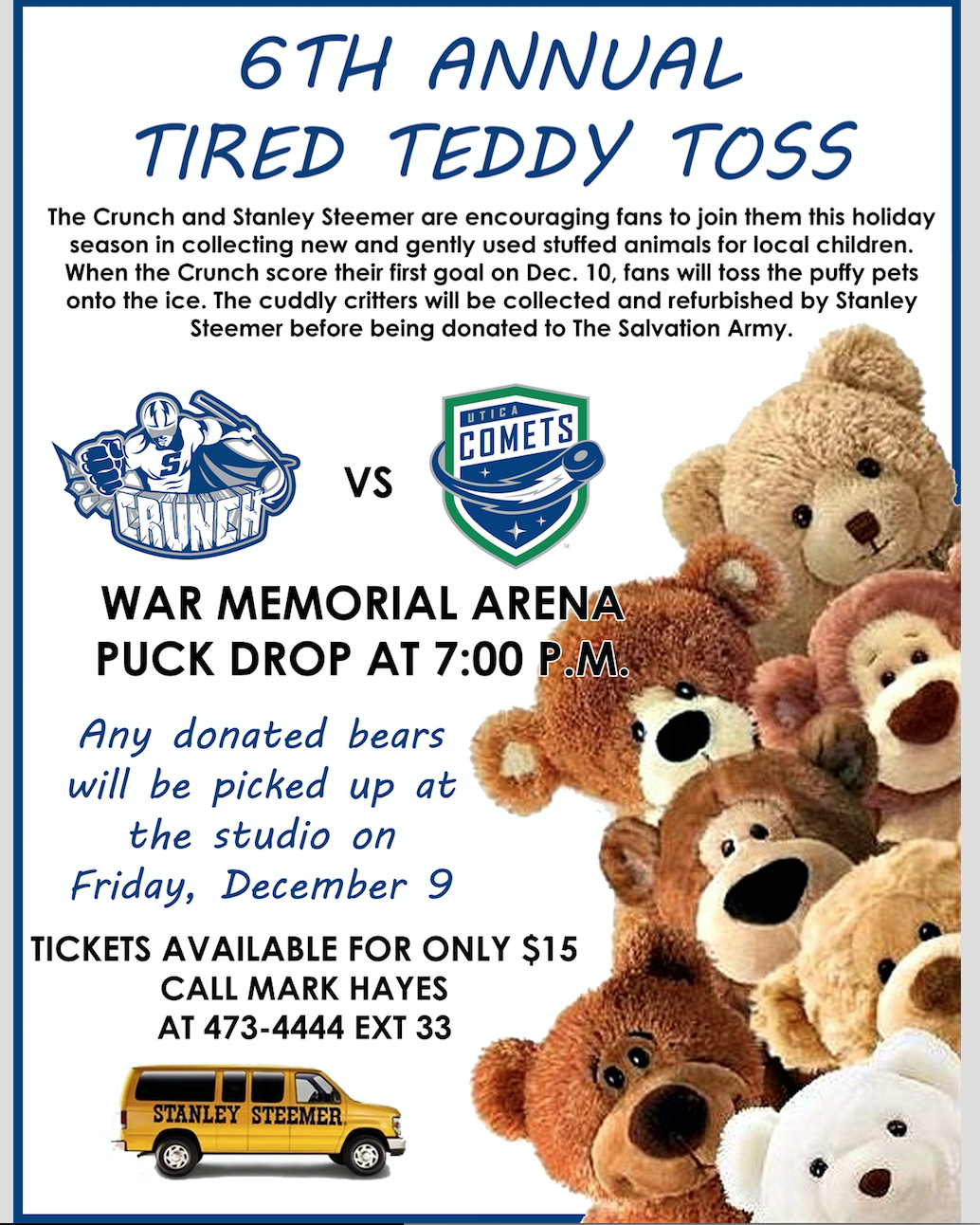 This coming week we will be collecting gently used Teddy Bears or other plush toys to donate to this wonderful cause!! Please bring any you would like to donate to the studio this week! Thanks to everyone in advance for helping!!  #ADDCGivesBack
