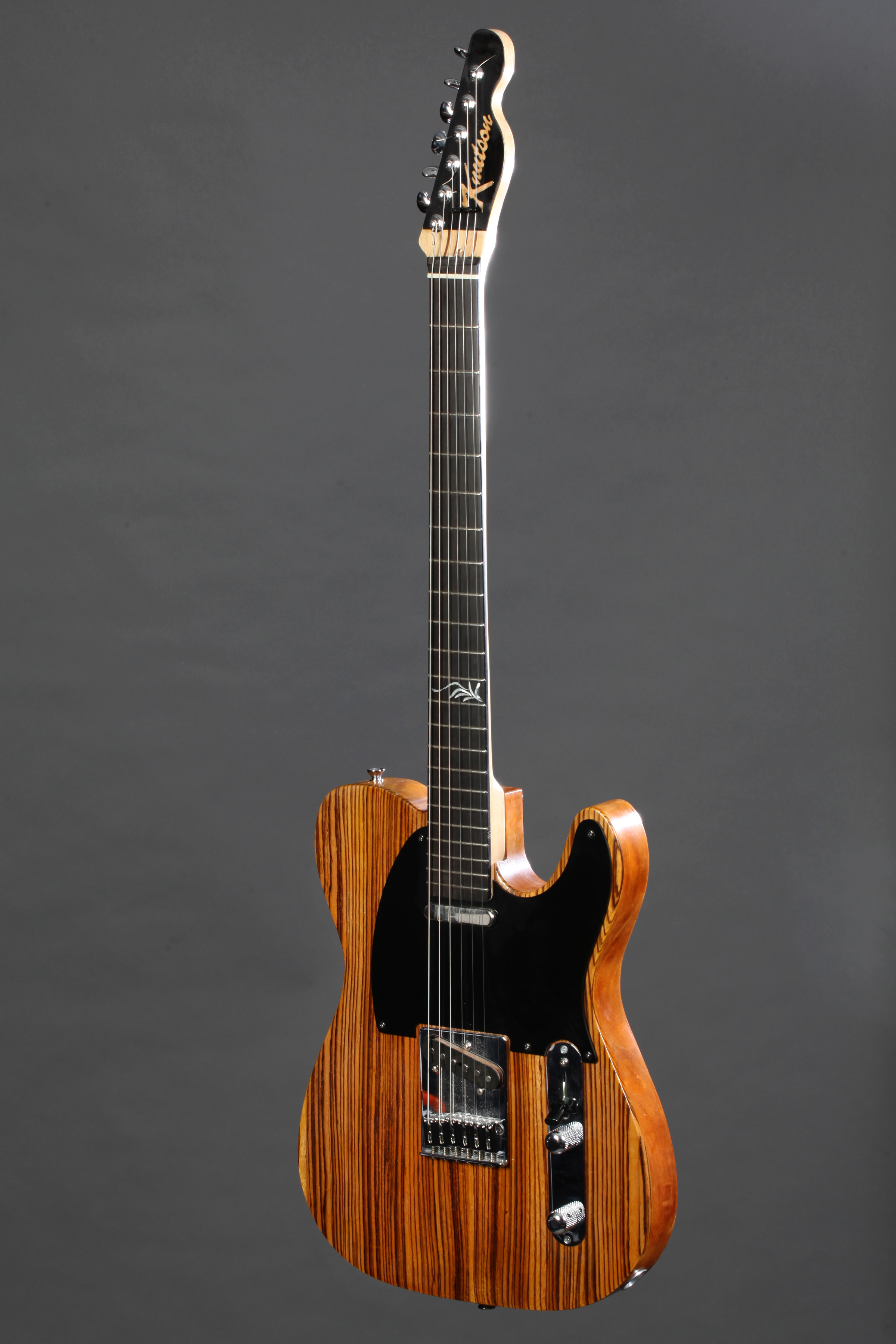 Chambered Mahogany Tele with Zebrawood top - Fralin Blues Specials pickups.