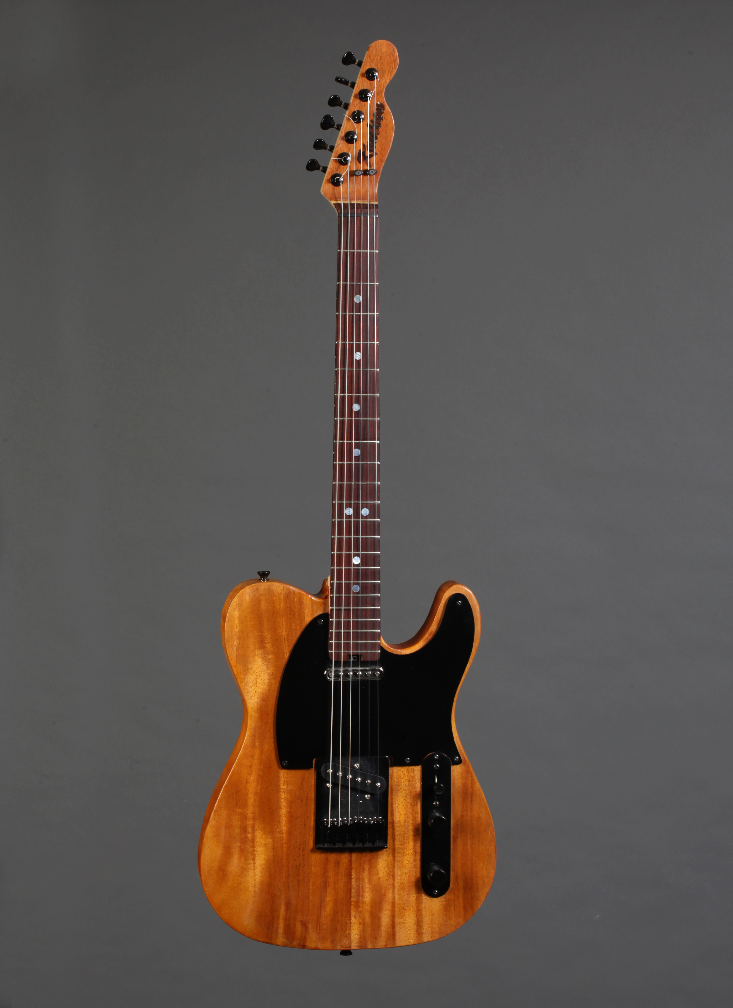 Mahogany Telecaster with Fralin Steel Pole 42 pickups.