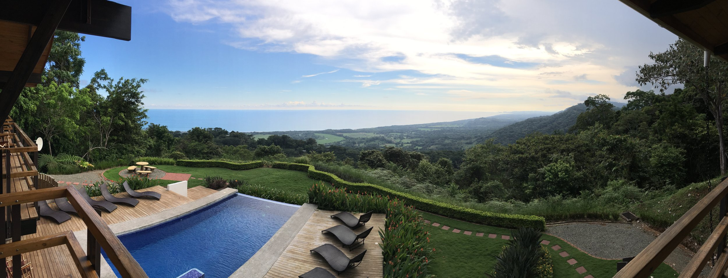 View of the Pacific, from Kalon Resort, Dominical, Costa Rica