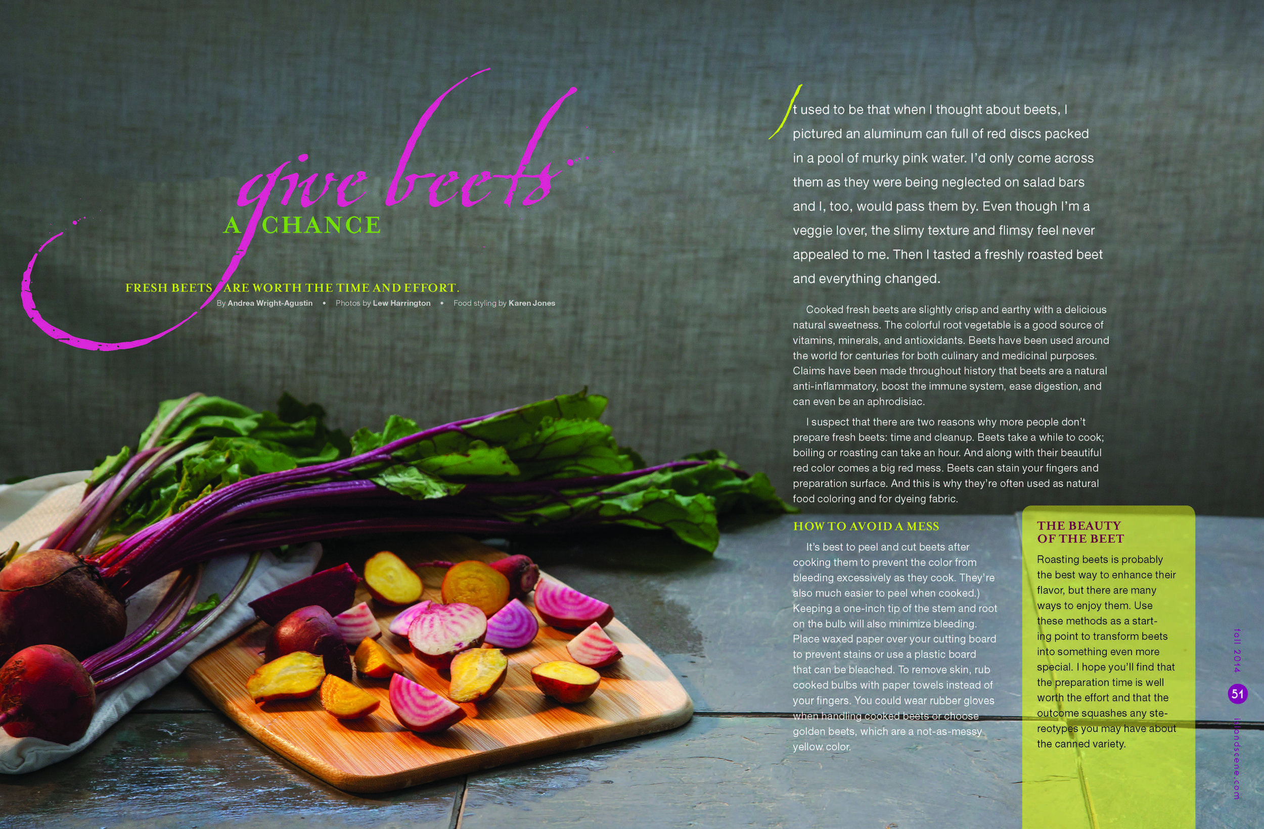 Island Scene , 2014. PC: Lew Harrington Studio. Food styling: Karen Jones.