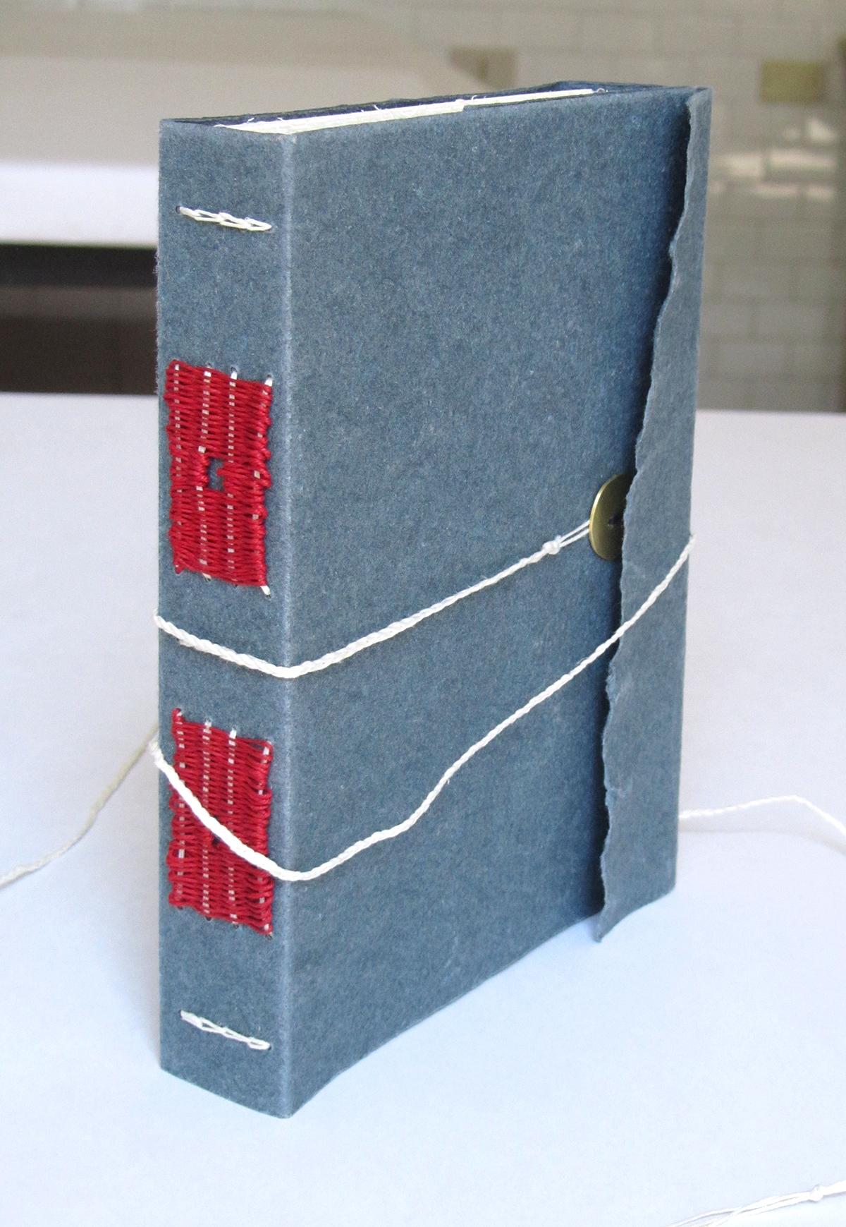 Long stitch binding.