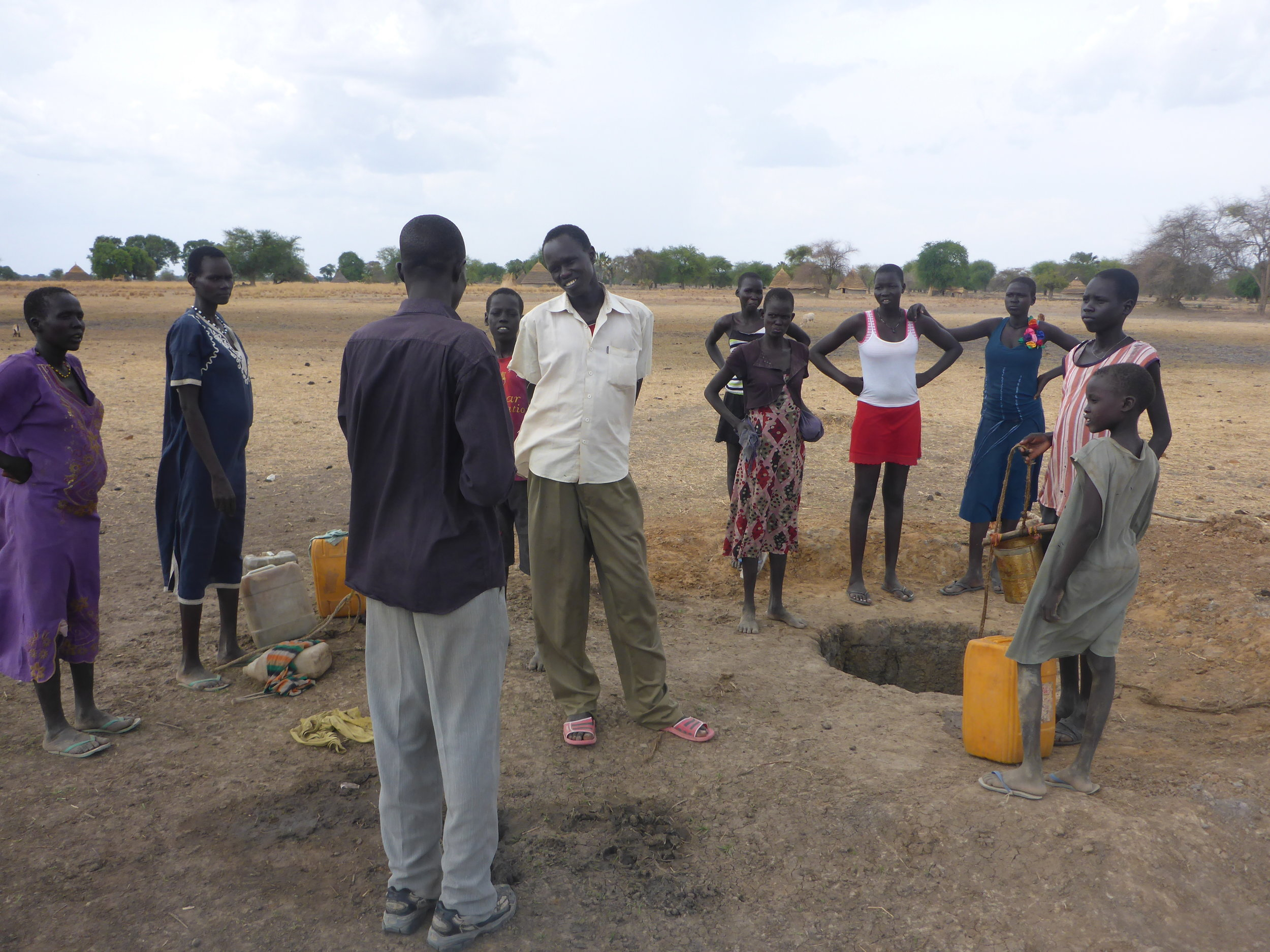 Villagers in bookanyara village receive hygiene education from wfss.