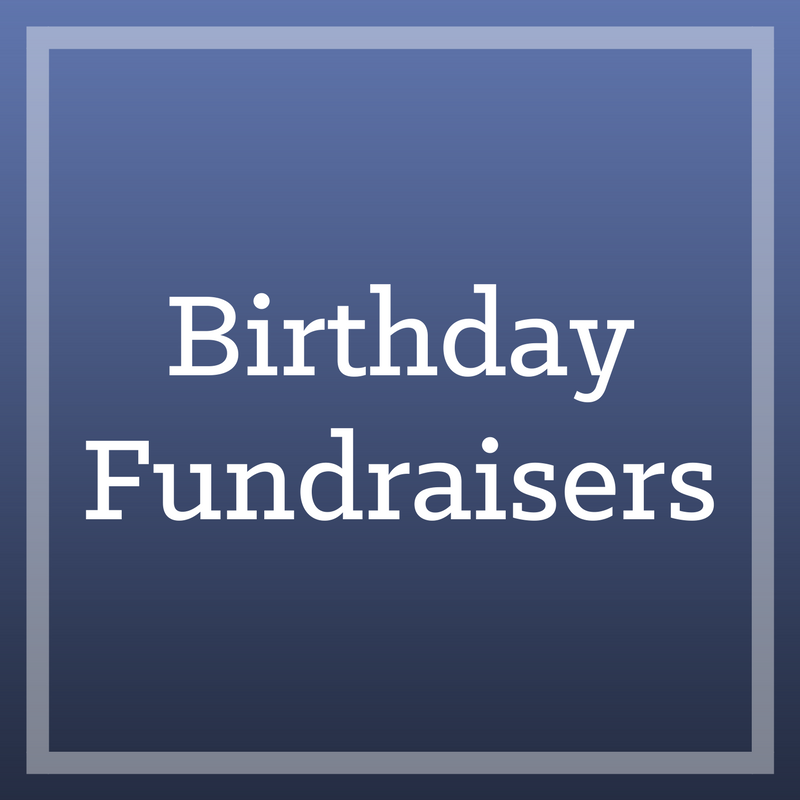 A truly selfless act. - We've seen many individuals ask friends and family to give to WFSS for their birthdays, and it inspires us every time. Create your own fundraiser to direct donations to for your next birthday.