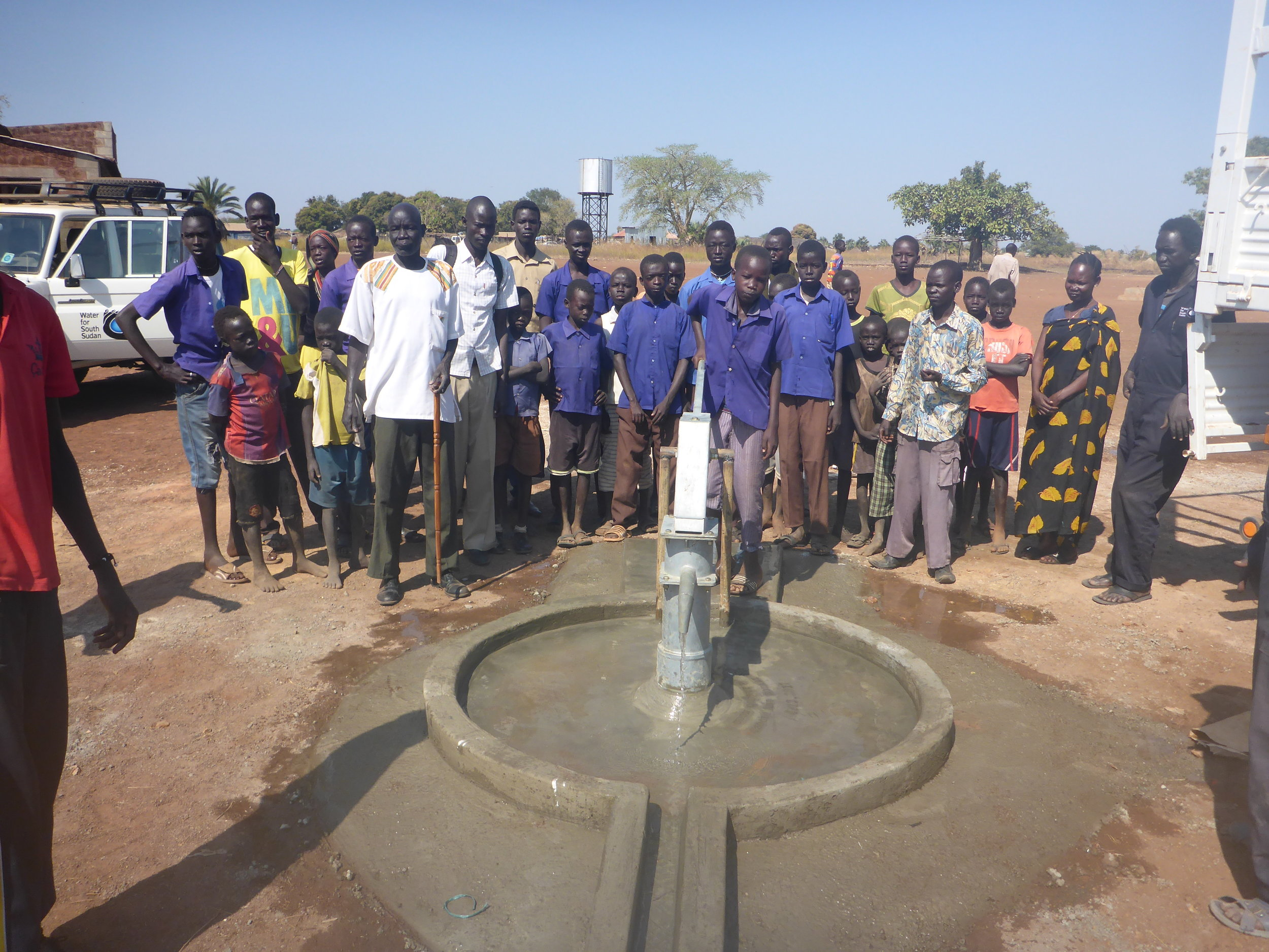 The first well of the season at Zagalona Primary School.