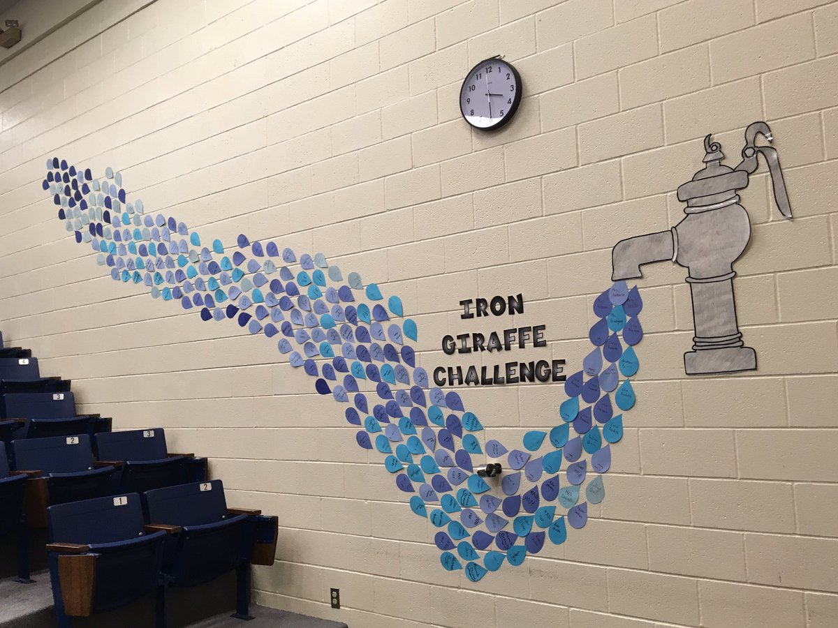Chardon Middle School, in Ohio, has completed their pledge for the Iron Giraffe Challenge.