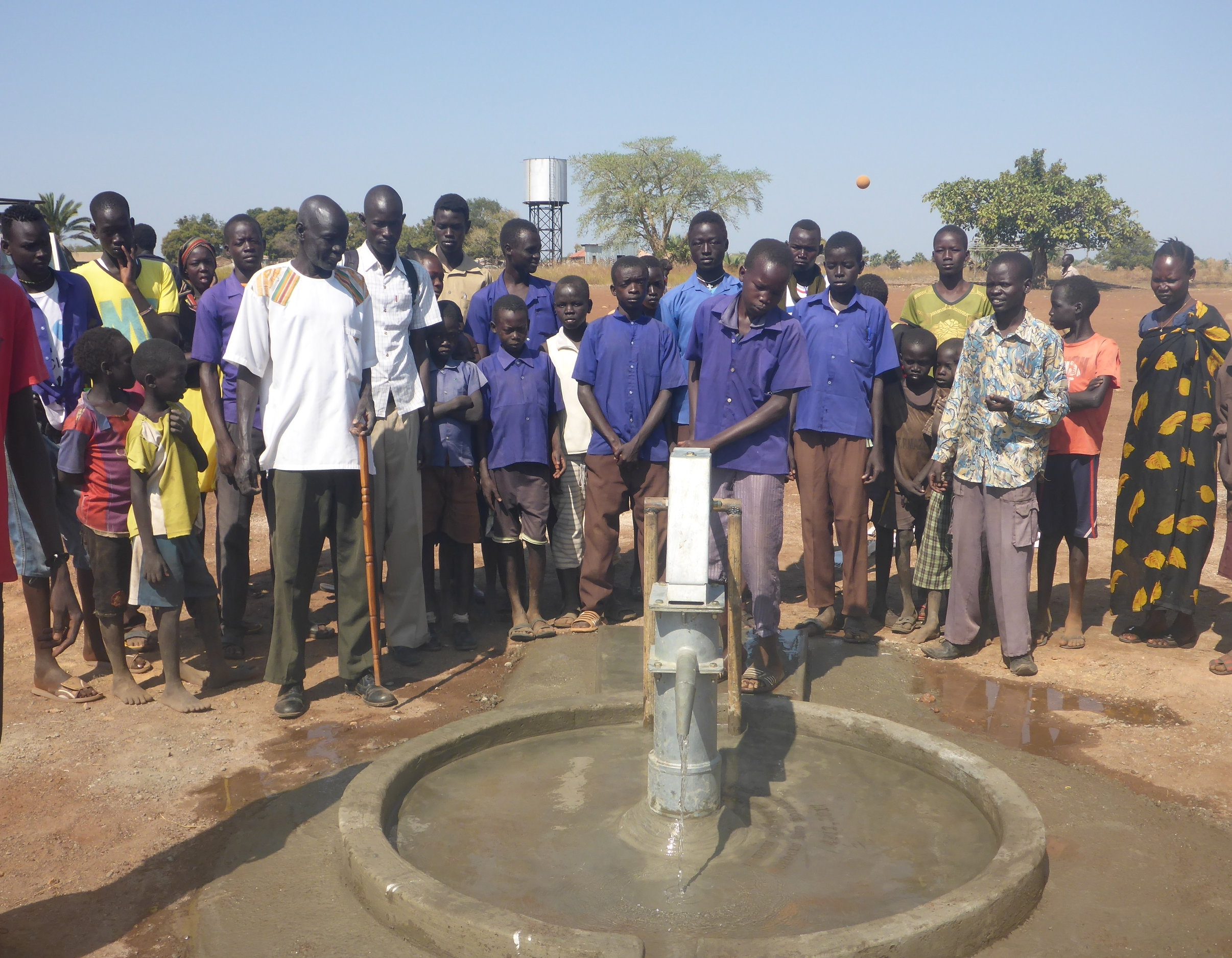 the first well of the 2017-18 season was drilled for the zagalona primary school in wau, site of wfss's pilot sanitation project.