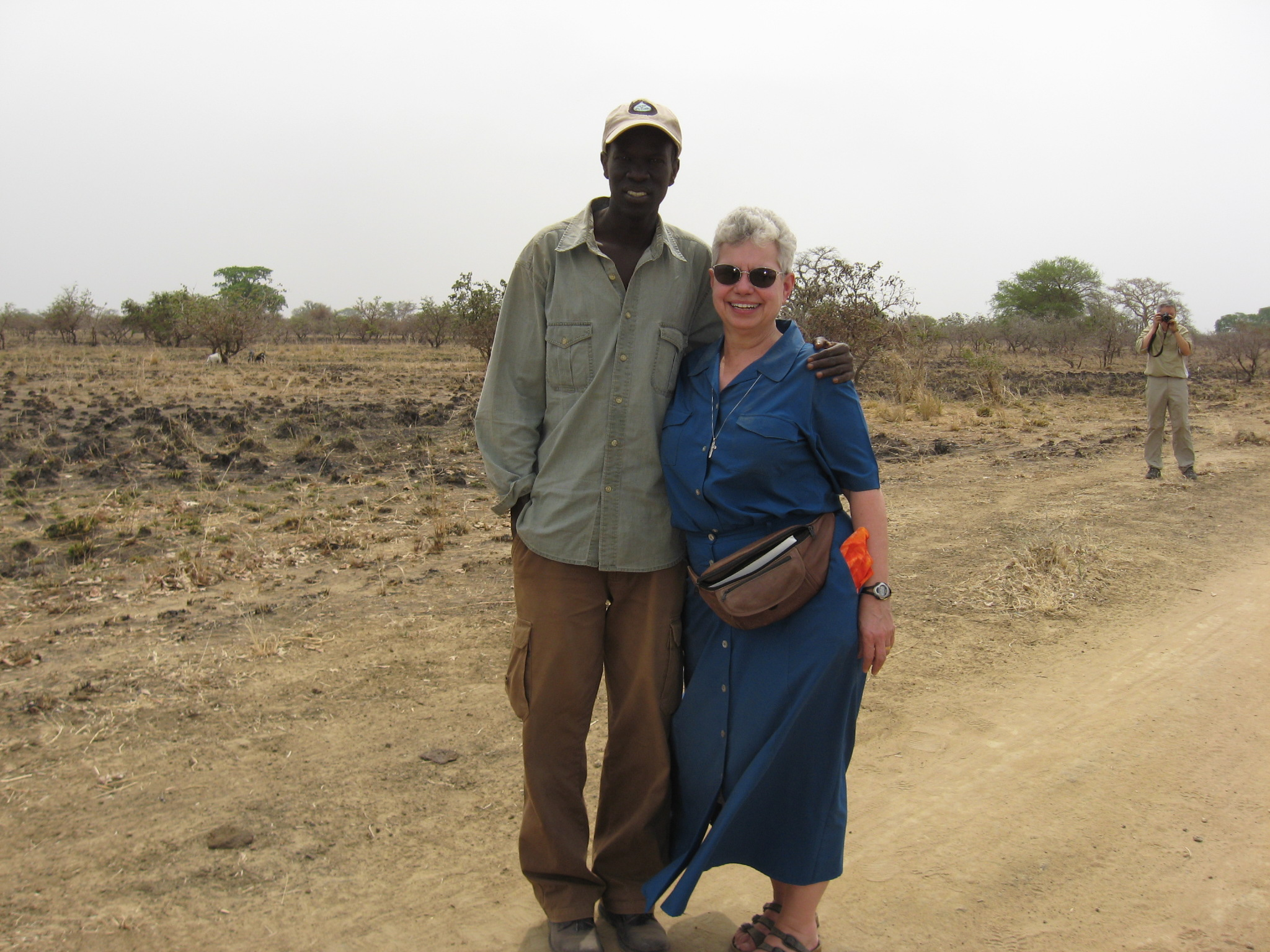 Nancy and Salva in 2008 in south sudan.
