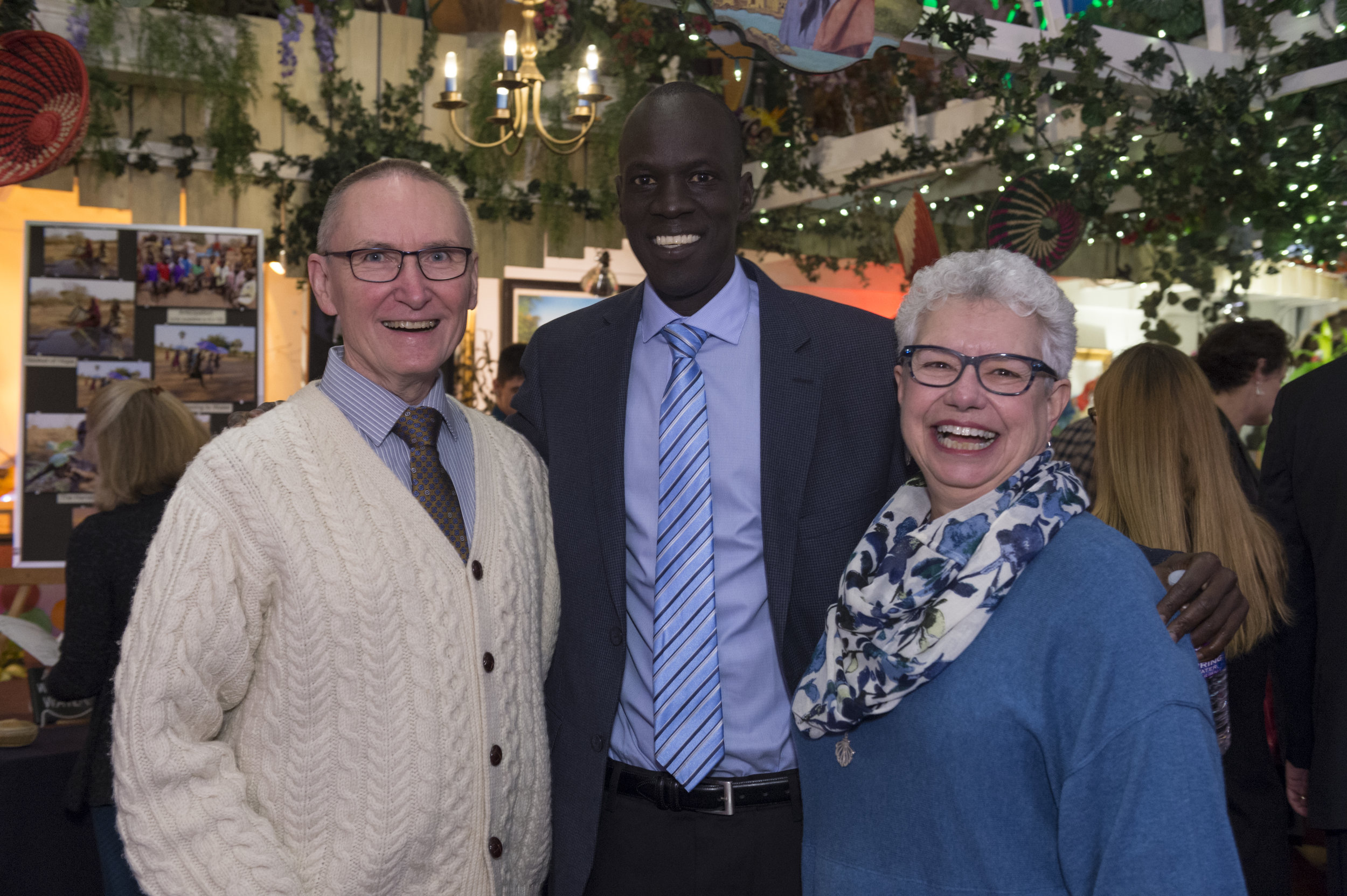 Nancy and wayne reinert with salva in 2016 at our annual fundraiser