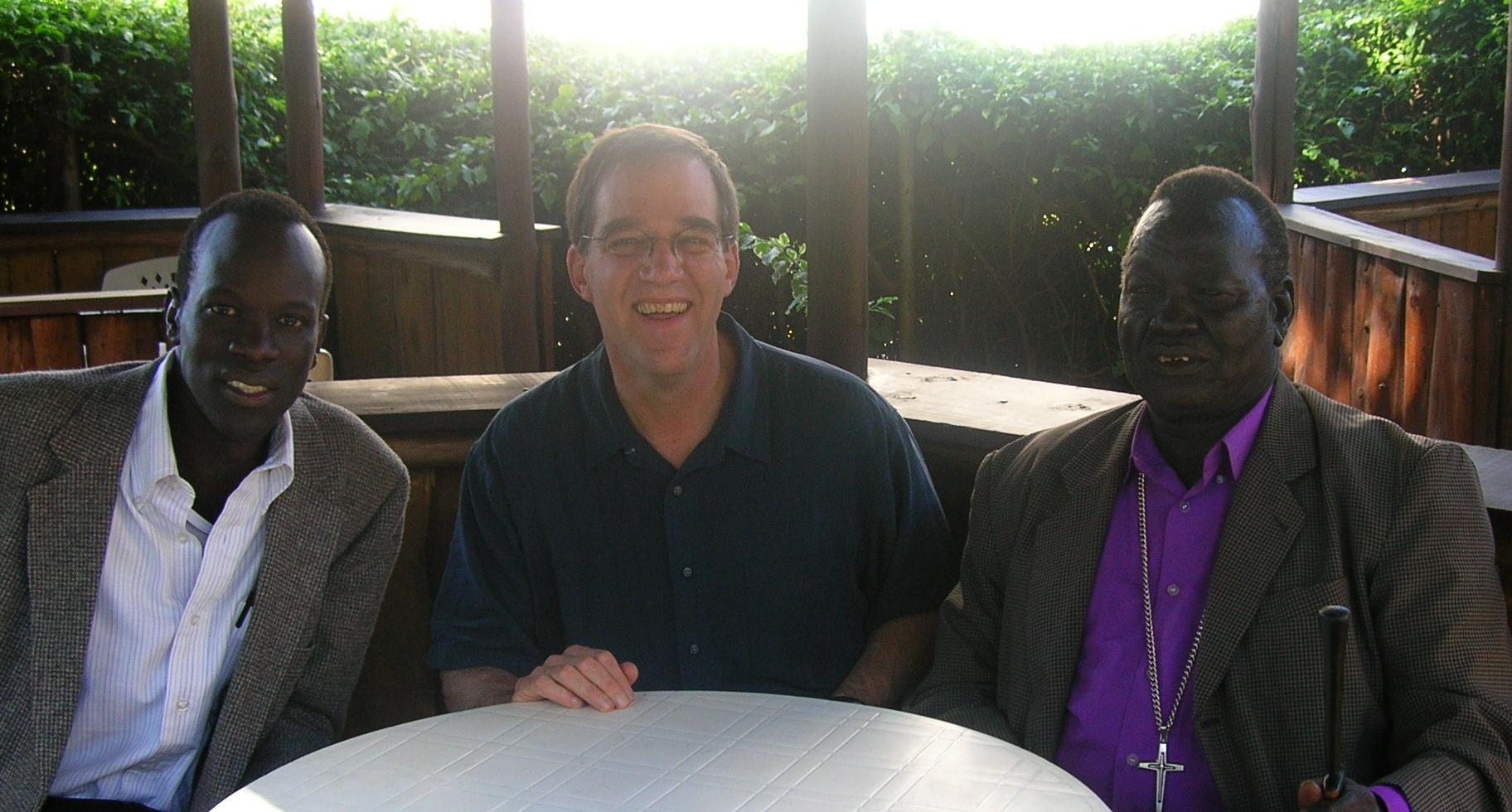SALVA AND JIM BLAKE IN SOUTH SUDAN.