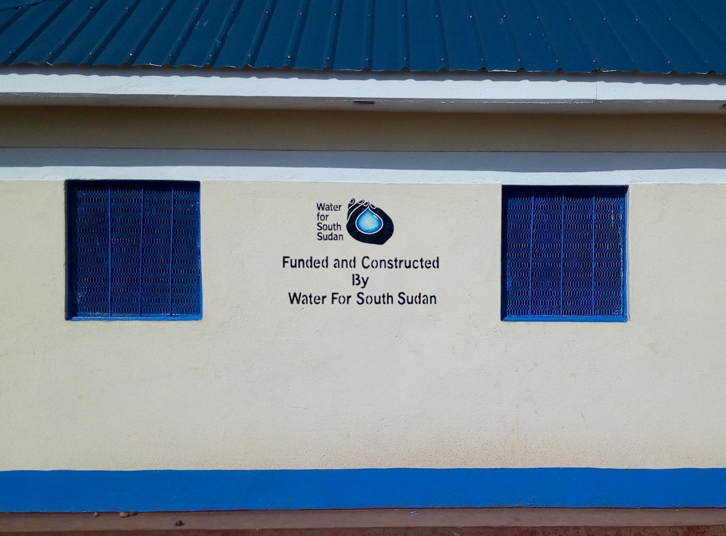Finished latrine building at zogolona school in wau.