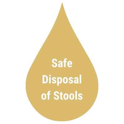 safe disposal of stools