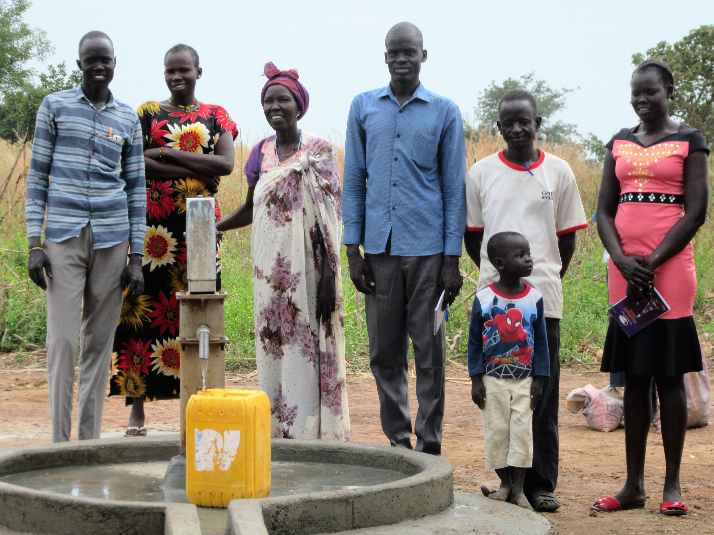 Clean water continues to flow from a rehabbed well in Bahr-Sherki in Western Bahr el Ghazal.