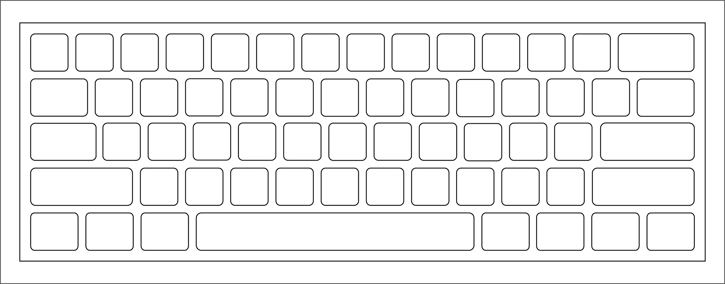 The current keyboard waffle pattern.