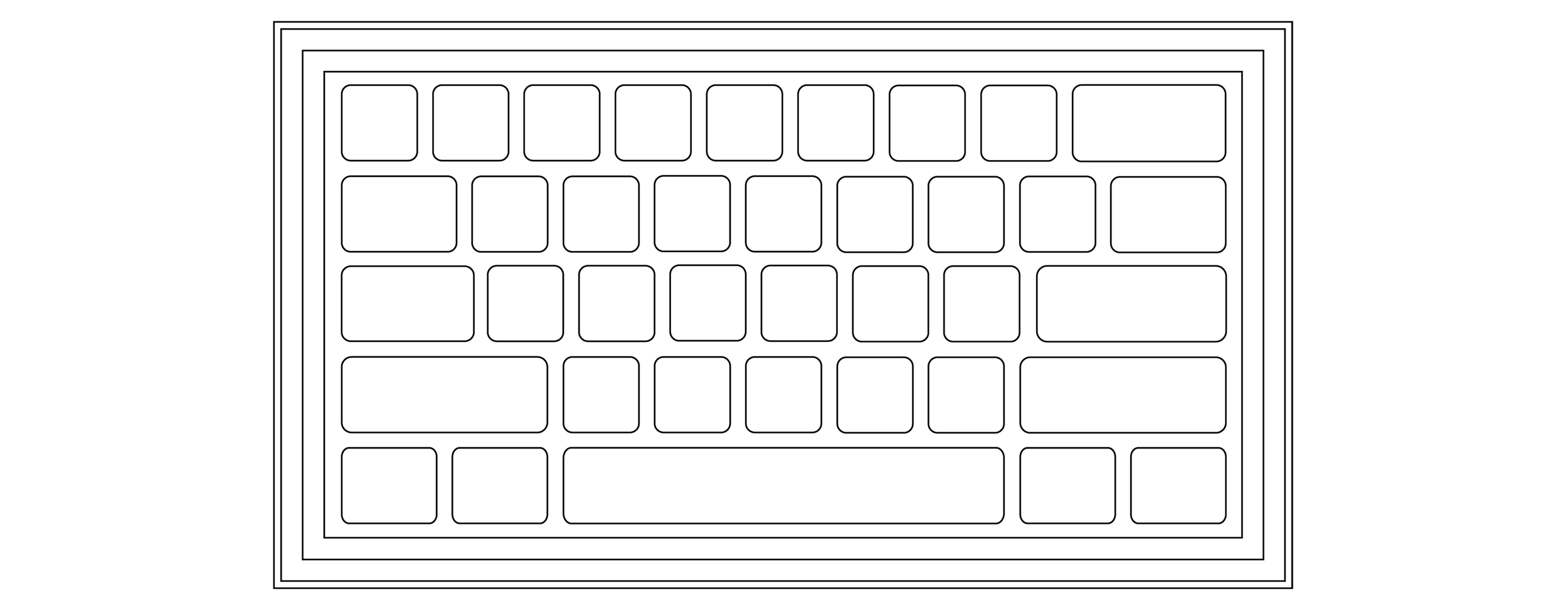 The old keyboard waffle pattern.