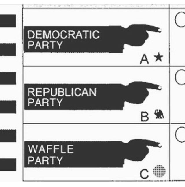 Who's voting today? We may or may not have brought syrup to the polls 😋🍽⌨️ #vote #votewaffles #waffleparty #keyboardwaffles #ctrlaltdelicious