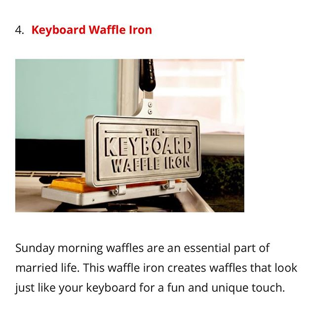 Thanks to @ediblearrangements for including us in this list! #ediblearrangements #keyboardwaffles #waffles #bridalshower #giftideas #ctrlaltdelicious