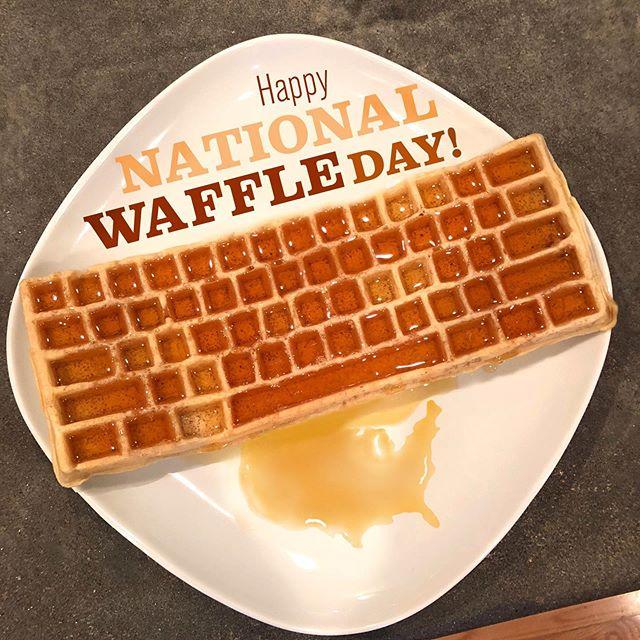 Happy National Waffle Day! #usa #natlwaffleday #waffleday #keyboardwaffles #ctrlaltdelicious