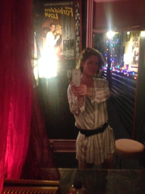 Photo from Southern Accent in Toronto - great tapas and a Voodoo themed bathroom which I'm standing in.