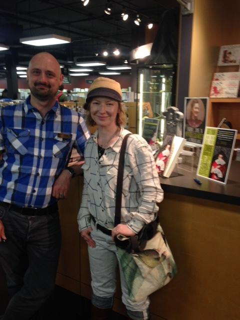 Winnipeg! With Chadwick Ginther at The University of Winnipeg Bookstore. (Photo Alex Renwick)