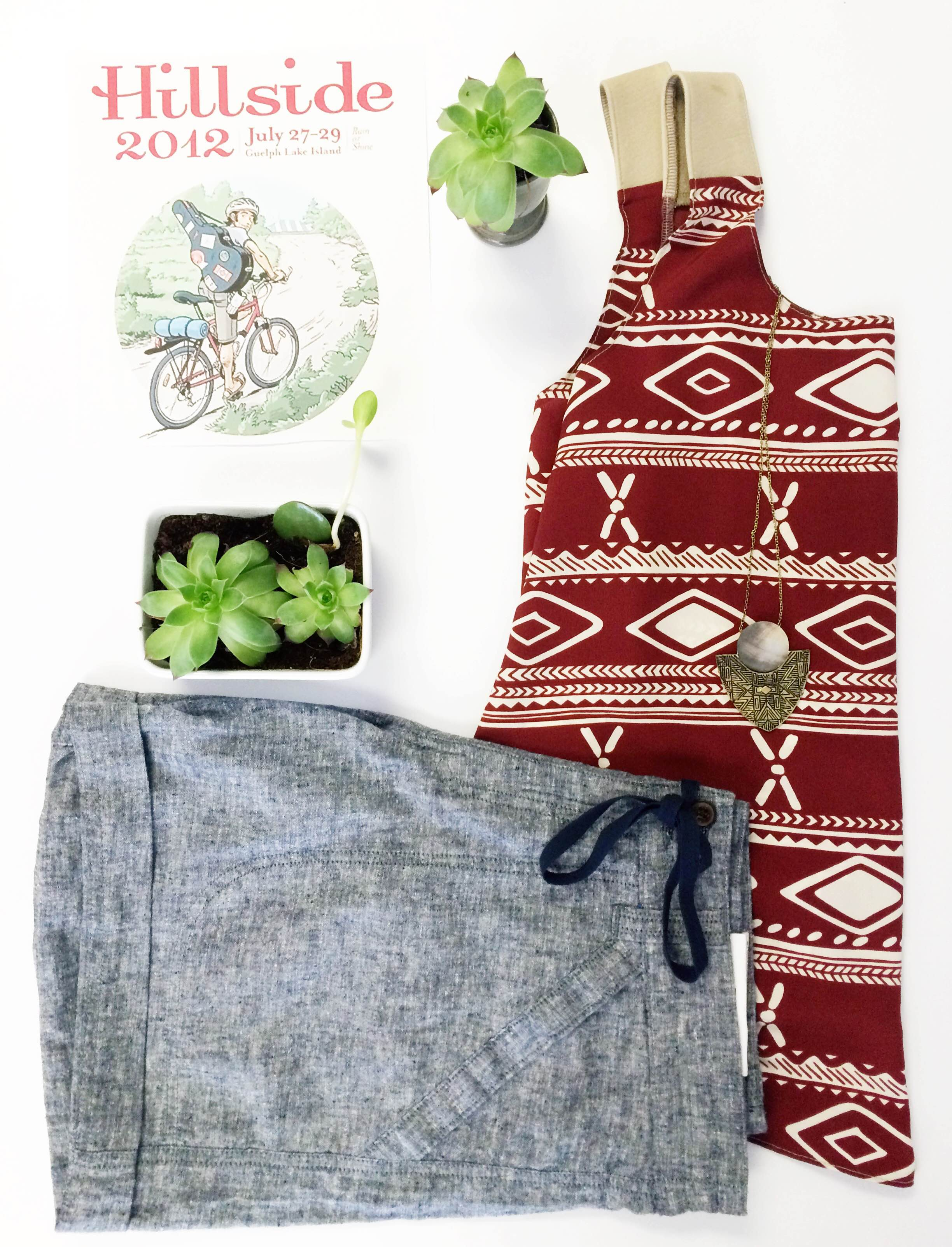 For our 2012 themed post, we're featuring Fred & Bean - an alternative thrifted clothing line from Arthur, Ontario. Fred & Bean's reversible tank is light and breezy but also still stylish. We've paired the top with our favourite Patagonia Cotton and Hemp chambray shorts. Keep an eye out for Fred & Bean while you're on the island!