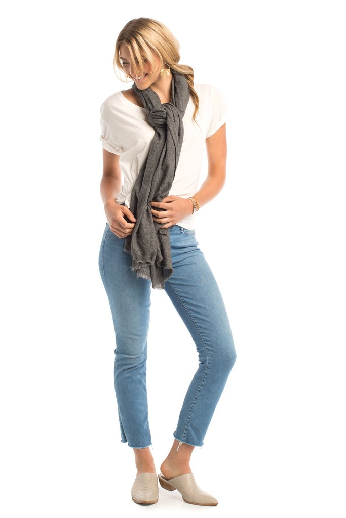 Synergy Pashmina Scarf in Charcoal.