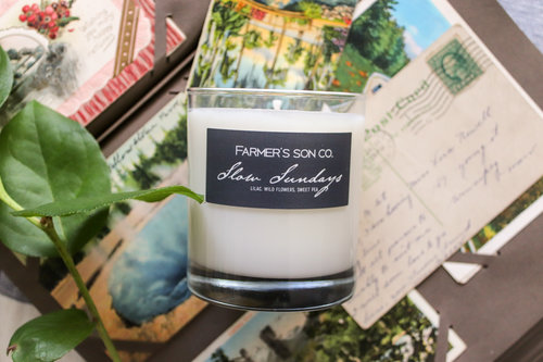 Farmer's Son Co. Slow Sunday Soy Candle.