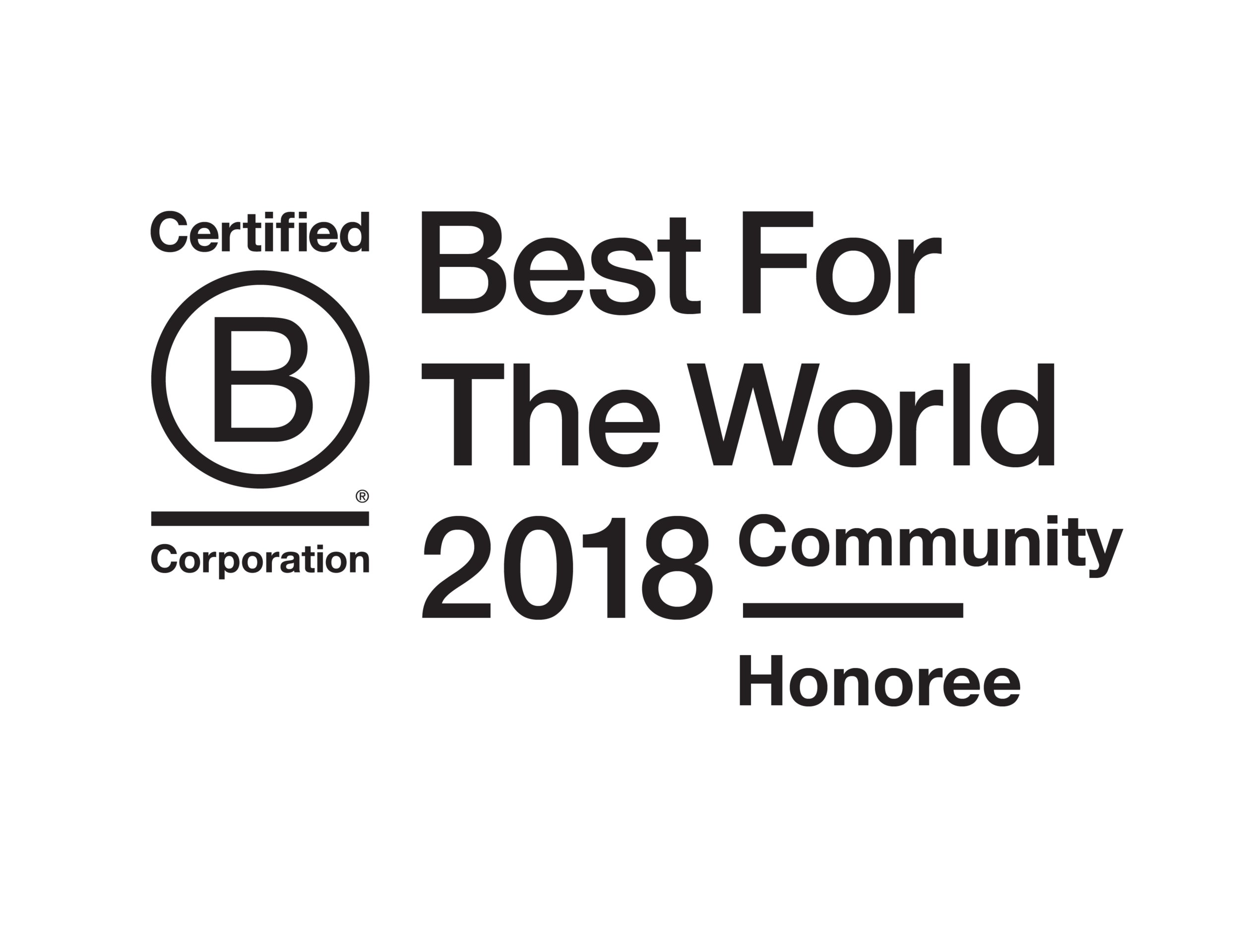 B Corporation Best for the World 2018 Community Honoree