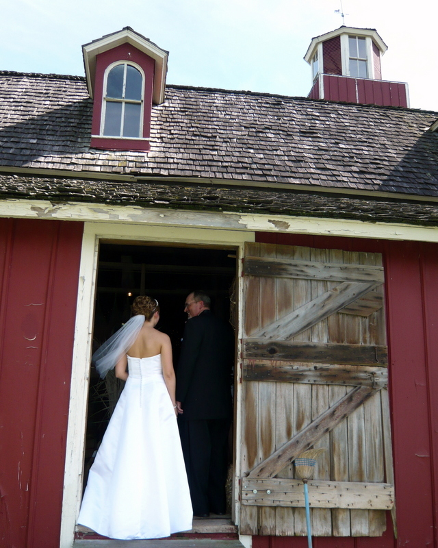 Wedding entrance - bride with father