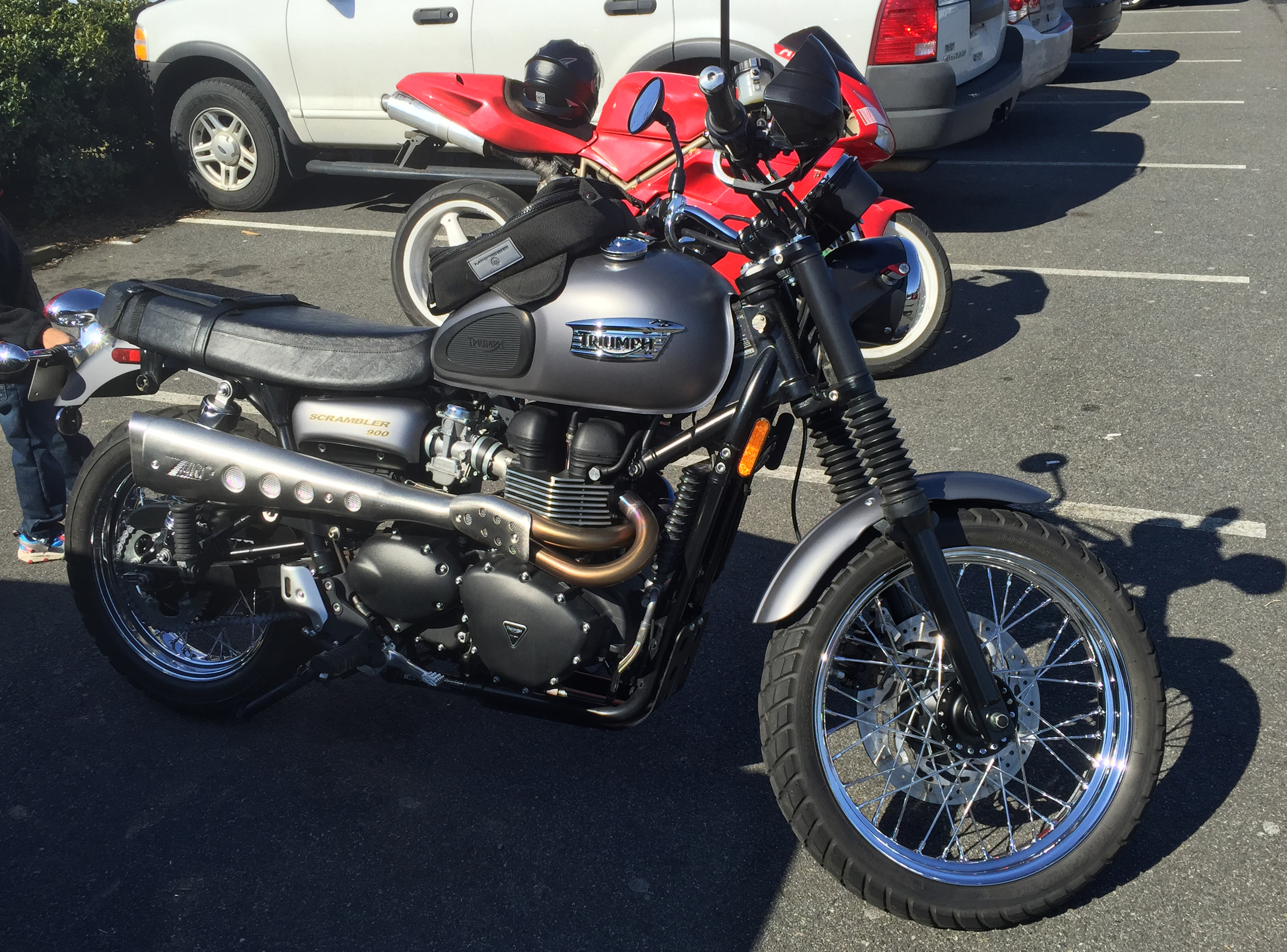 Triumph Scrambler 900 from Cars and Coffee Charlotte March 2015