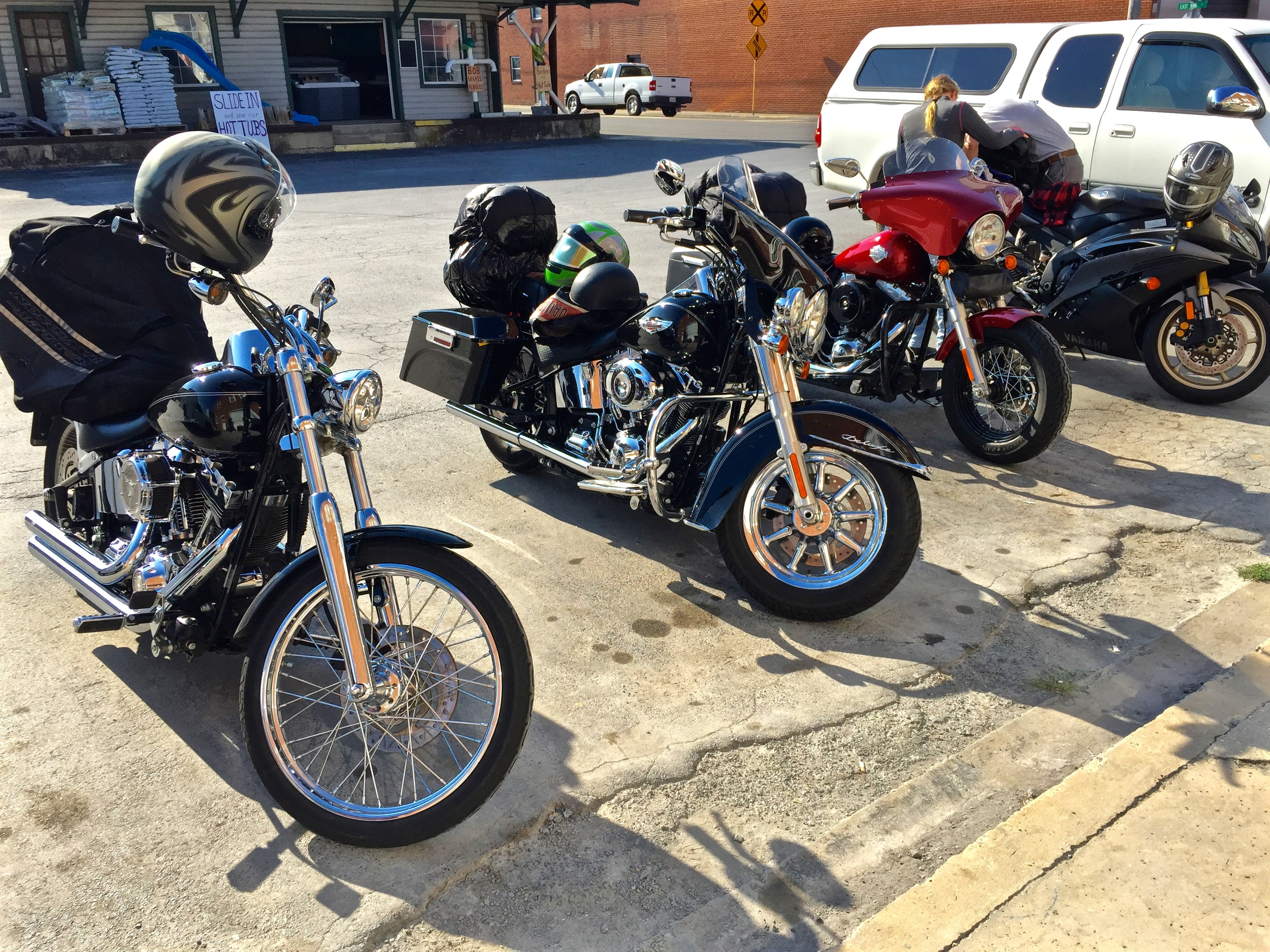 Always more fun to ride with a group.