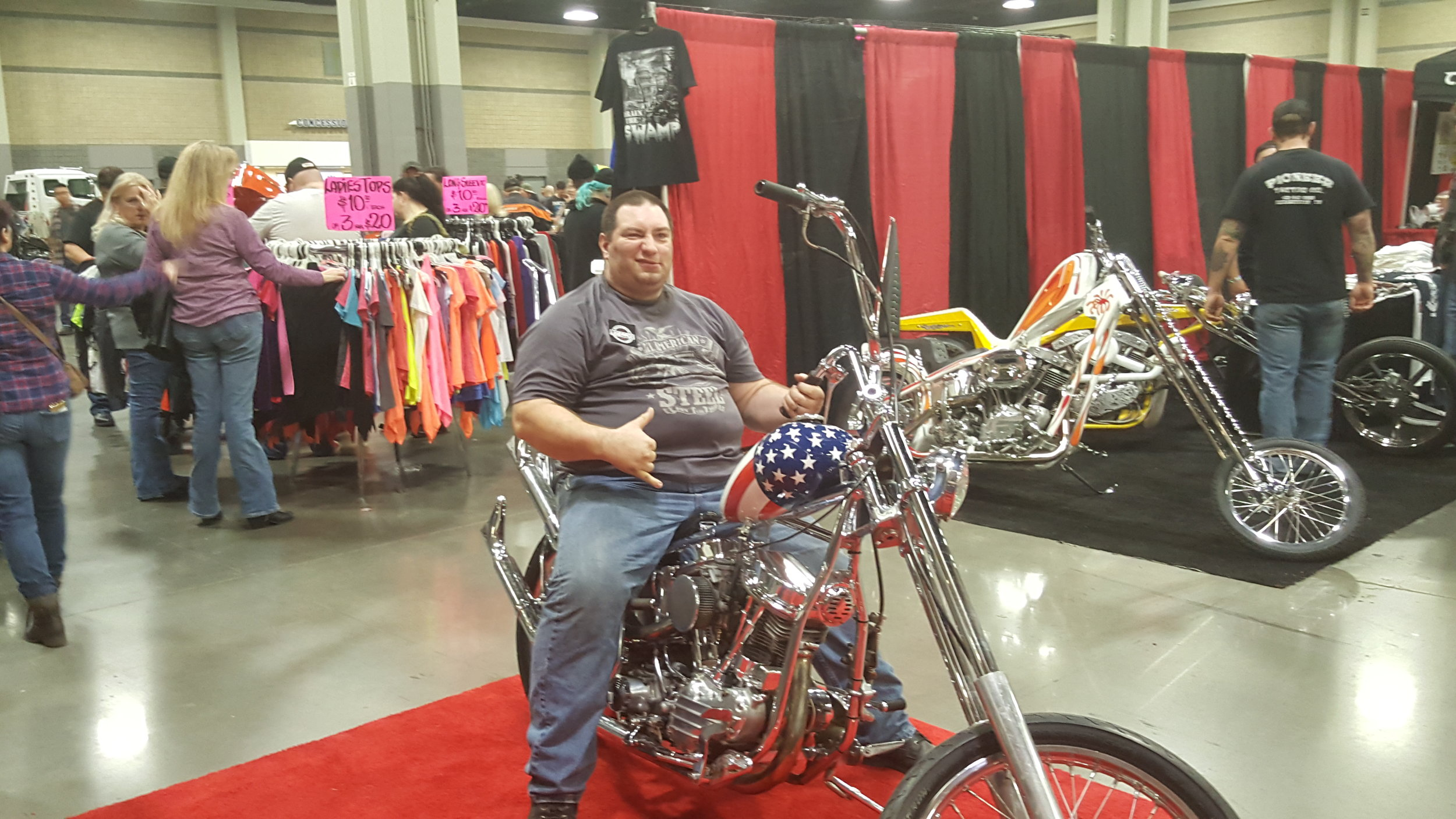 EasyRider Chopper with Mike testing it out.
