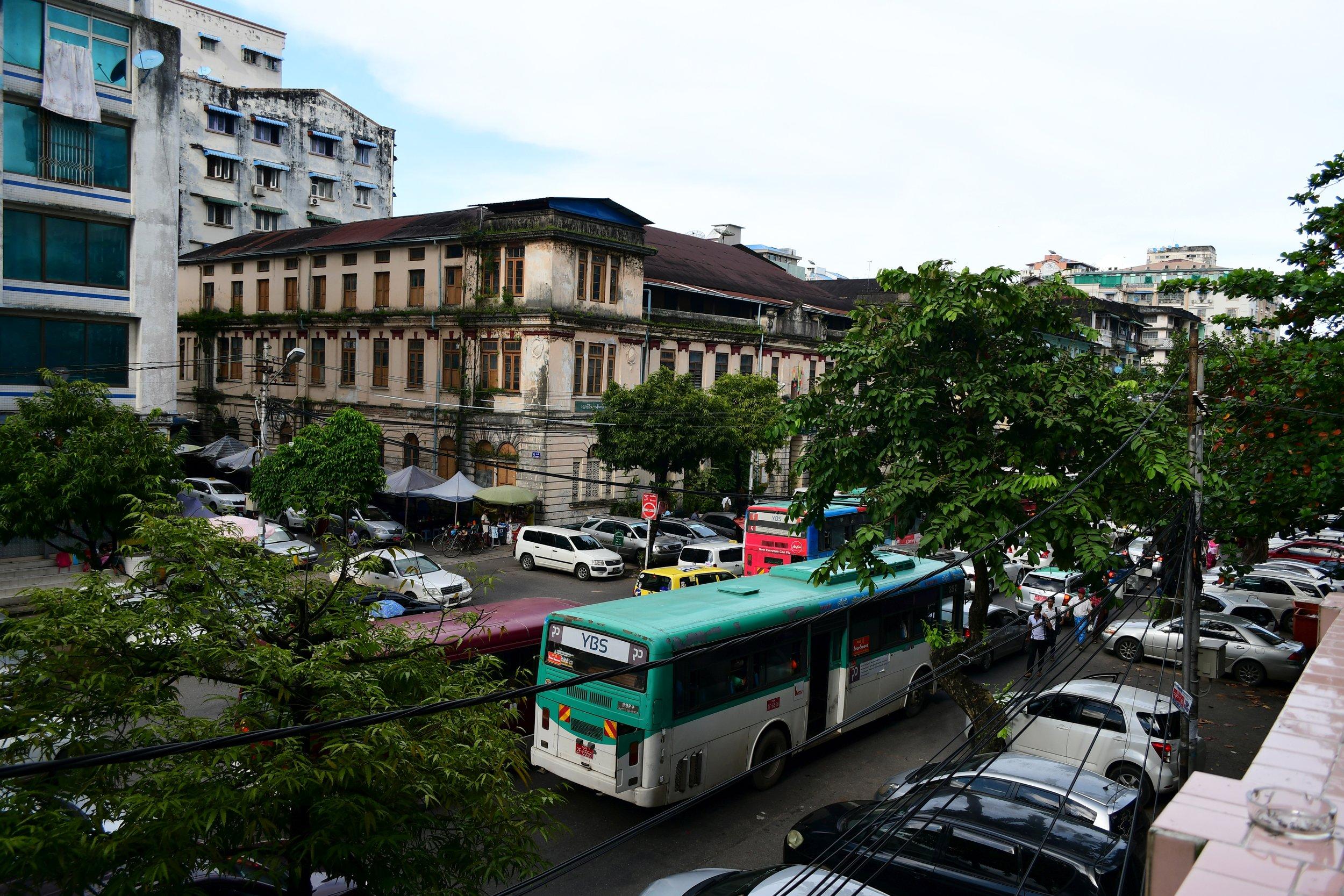 Busy Street - Yangon
