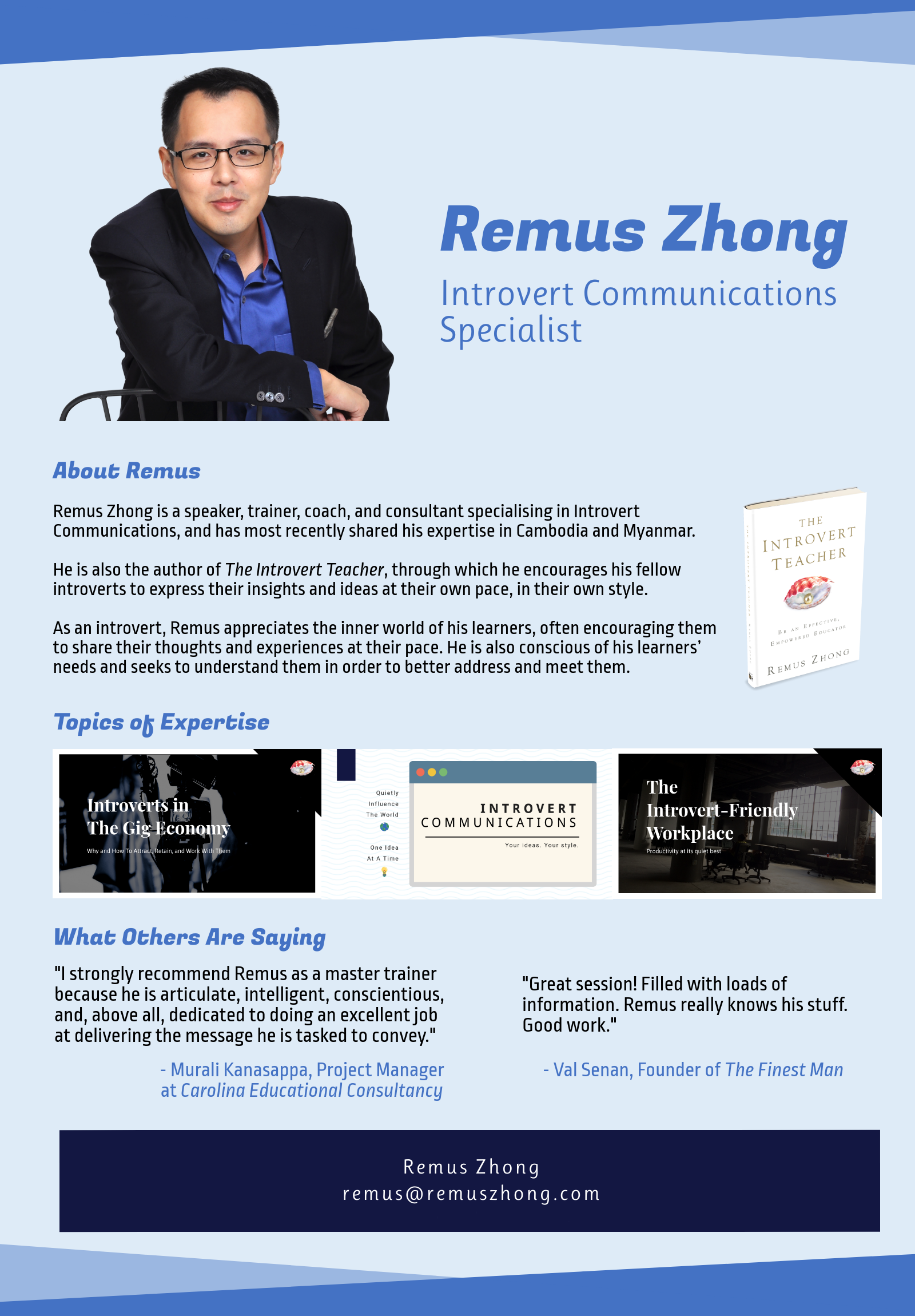 Remus Zhong - Corporate
