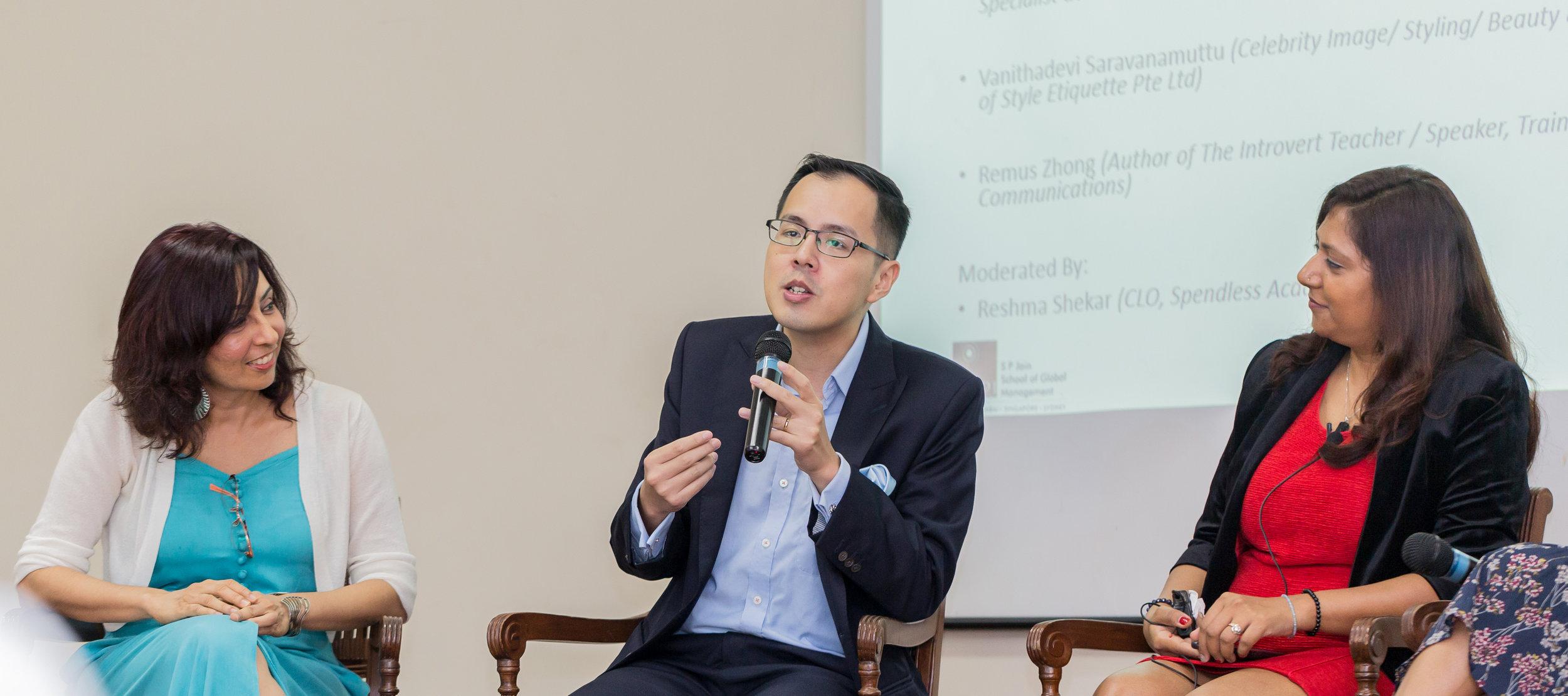 Speaking at S P Jain School - Singapore