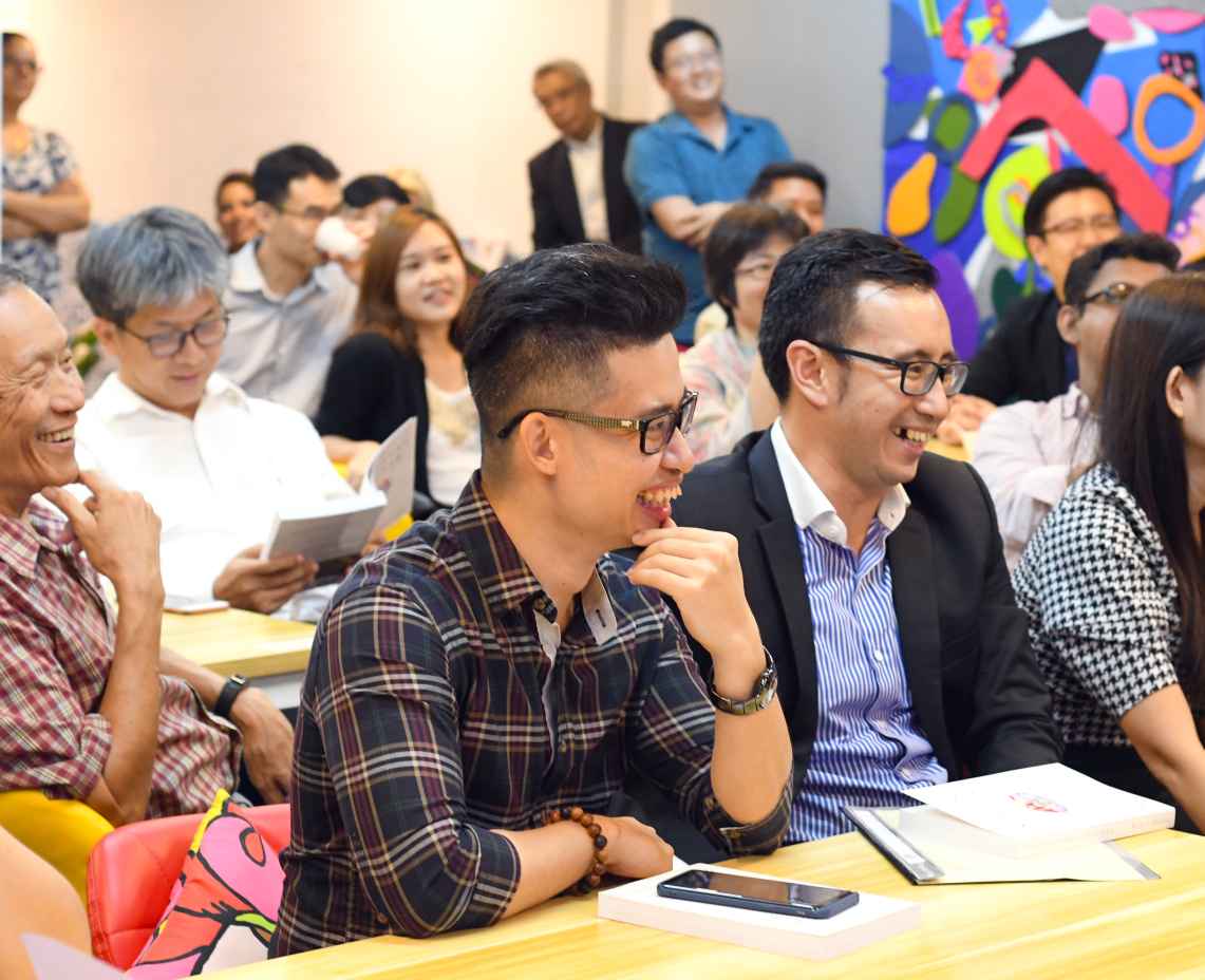 Mental Health Advocate and Global Goodwill Ambassador  Rayson Choo  in the audience with  Coen Tan
