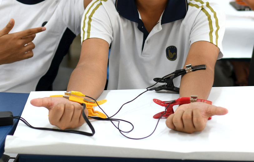 Electrocardiogram (ECG) setup